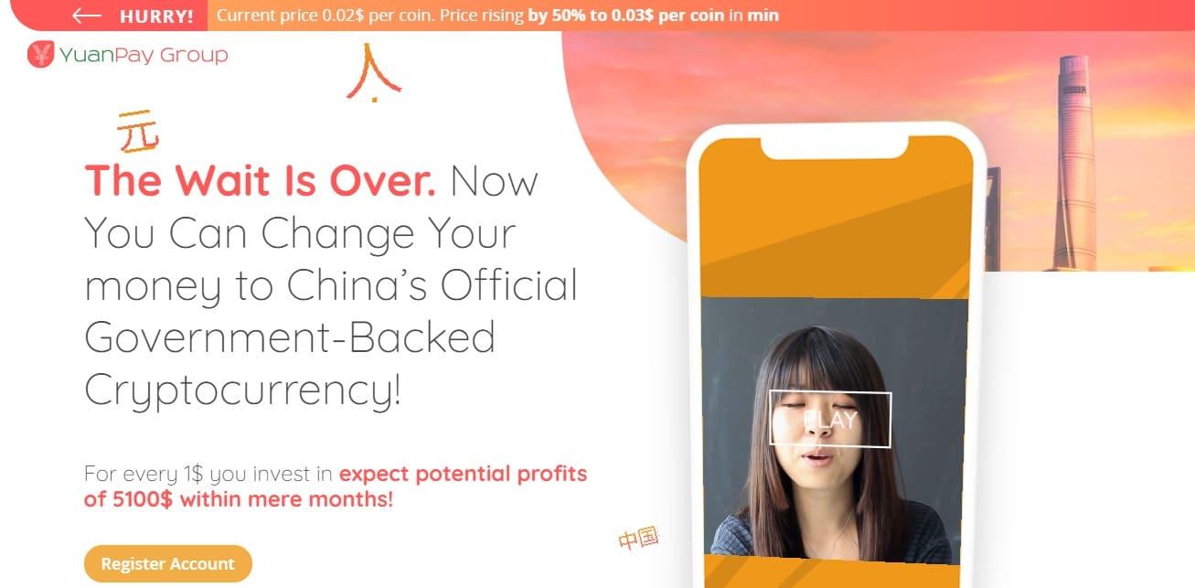 Yuan Pay App website