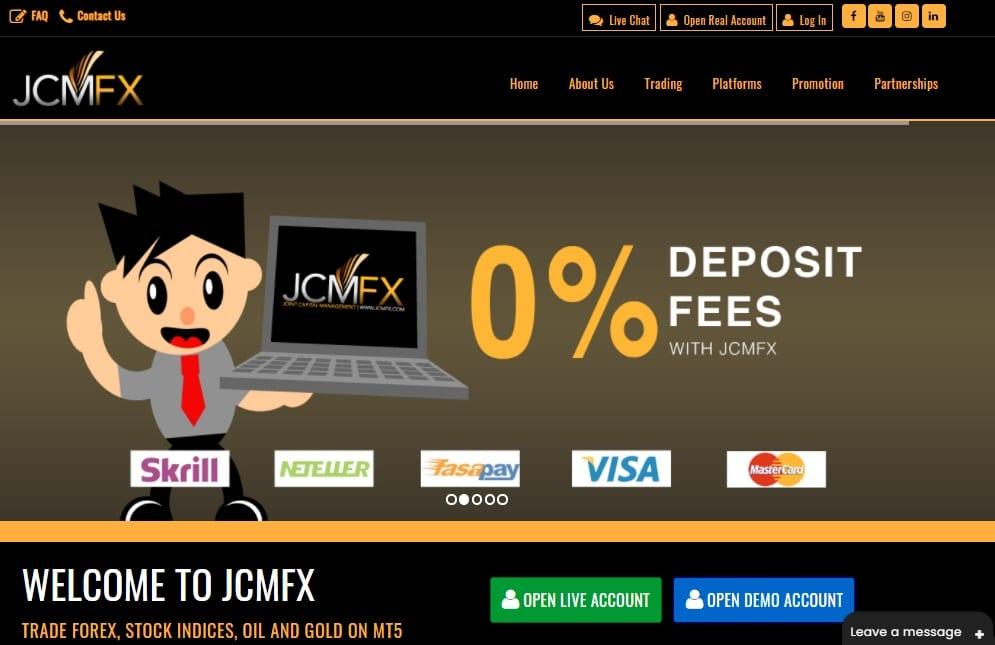 JCMFX website
