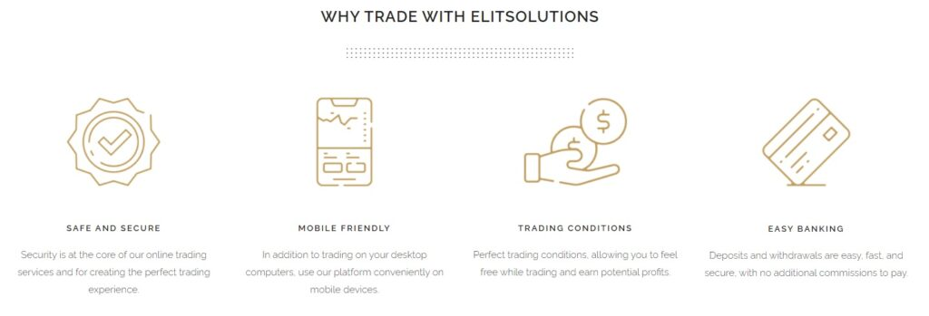 Ideal trading conditions ElitSolutions